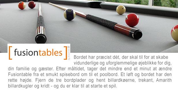 FUSIONTABLES - Et kombineret spise- & poolbord