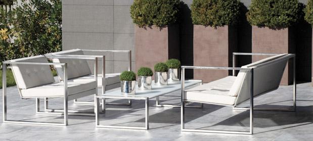 Poltrona Lounge easy stol, stål